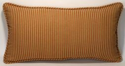 """1 14""""  by 26"""" Red Tan Country Stripe Handmade Decorative Thr"""