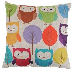 1 pieces Night owl Printed Cheap price Cotton Linen cushion