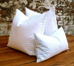 10% Goose Down 90% Duck Feather PILLOW INSERT Form WHITE Mus