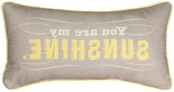 17 Reversible Yellow and Gray You Are My Sunshine Decorative