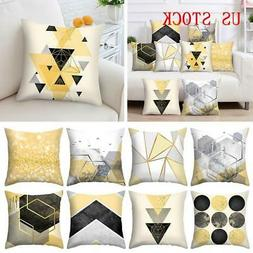 "18""Geometric Polyester Pillow Case Sofa Car Waist Throw Cush"