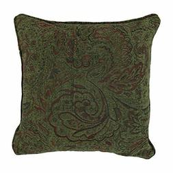 18-inch Double-corded Square Patterned Jacquard Chenille Thr
