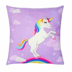 18 x 18-Inch Unicorn Throw Pillow Covers Decorative for Kids