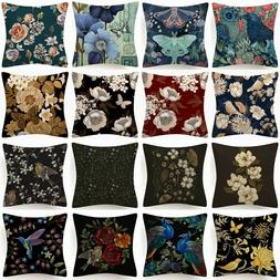 """18x18"""" Throw PILLOW COVER Floral Double-Sided Decorative Flo"""