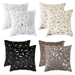 "1 2pcs 18"" Soft Faux Fur Velvet Throw Pillow Case Cushion So"