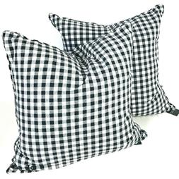Ralph Lauren gingham 2 toss throw pillows pillow set check b