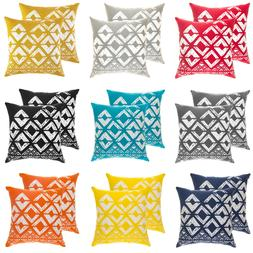 TreeWool,  Cotton Canvas Squares Geo Accent Decorative Throw
