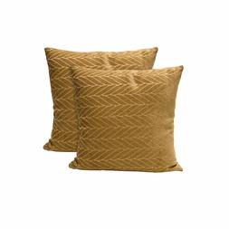 2 Pack Living Room Decor Chenille Wheat Decorative Throw Pil