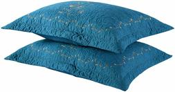 2 Pack Throw Pillow Covers Euro Sham Covers Pillow Shams Pil