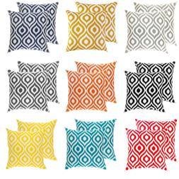 TreeWool  Throw Pillow Cushion Covers in Cotton Canvas Ogee