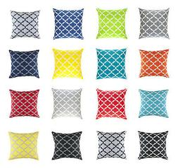 TreeWool,  Throw Pillow Cushion Covers in Cotton Canvas Trel