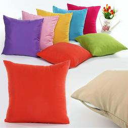 2 Plain Solid Throw Home Pillow Case Waterproof Waist Cushio