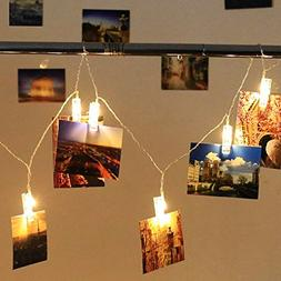 Holidayli 20 LED Photo Hanging Clips String Lights for Teens