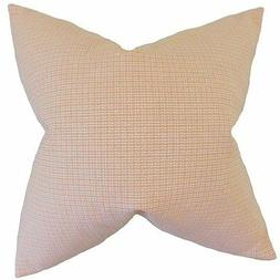 "The Pillow Collection 20"" Square Hye Plaid Throw Pillow"