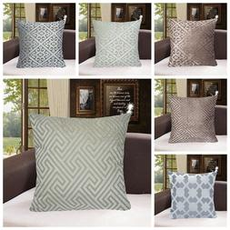 Geometric Fancy Premium Soft Throw PILLOW COVER Sofa Couch C