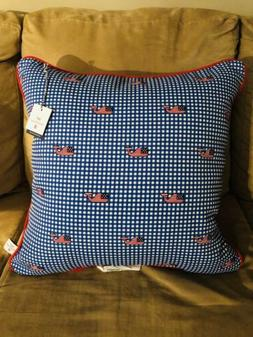 20X20 Vineyard Vines Target Flag Whale Gingham Outdoor Throw