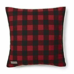 Eddie Bauer Red Cabin Plaid Flannel 20-inch Decorative Pillo
