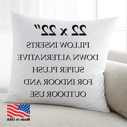 22x22 Discount Pillow Factory Throw Pillow Euro Form Inserts