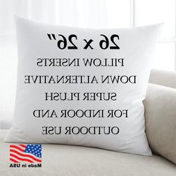 26x26 Discount Pillow Factory Euro Throw Pillow Inserts Made
