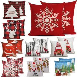 2pc christmas throw pillow covers cases pillowcase