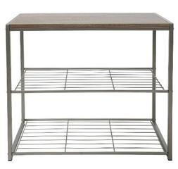 3-Tier Shoe Rack Grey - Shoe storage bench Shelf Rack Shoe s