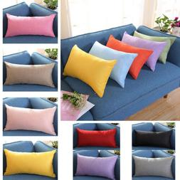 30 50cm home rectangle cushion cover silk