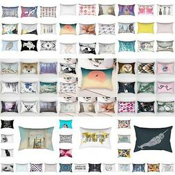 30×50cm Rectangular Pillow Case Sofa Waist Throw Cushion Co