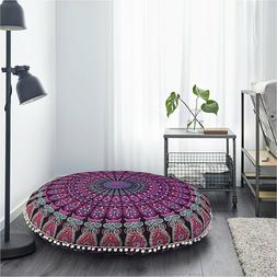 "32"" Large  Floor Cushion Mandala cover Throw Bohemian Indian"