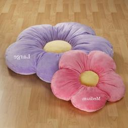 35 Large Purple Daisy Flower Pillow, Baby Lounger, Girls Roo