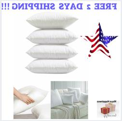 4 Packs Throw Pillow Inserts Hypoallergenic Square Form Sham