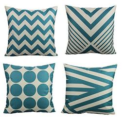 All Smiles Teal Throw Pillow Covers Case Decorative Turquois
