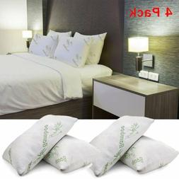 4pc Shredded Memory Foam Pillow With Bamboo Cover Coop Home