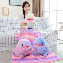 60cm plush dinosaur toy with blanket 2 in <font><b>1</b></fo