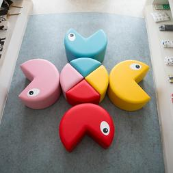 8 Pcs Soft Chairs Stool Set for Toddler Colorful Kids Sofa C