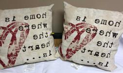 Brentwood 8022 Wordsmith Pillow, Home is Where The Heart Is,