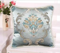 Brocade Vintage European Jacquard Throw PILLOW CASE Sofa Cus