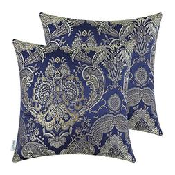 CaliTime Pack of 2, Supersoft Throw Pillow Covers Cases for