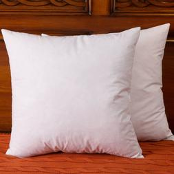 DOWNIGHT Set of 2, Cotton Fabric Throw Pillow Inserts, Down