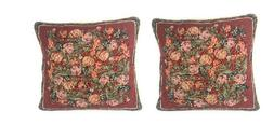 DaDa Bedding Set of Two Romantic Red Roses Floral Throw Pill