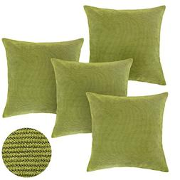 Deconovo Light Green Toss Pillow Case Throw Cushion Cover Pi