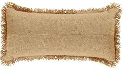 Deluxe Burlap Natural Tan Pillow - 7x13""