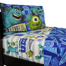Disney Pixar Monsters University Sheet Set, Twin