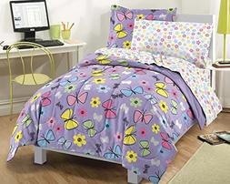 Dream Factory Sweet Butterfly Ultra Soft Microfiber Comforte