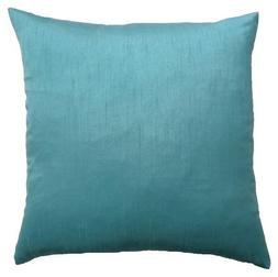 DreamHome - Solid Faux Silk Decorative Pillow Cover/Sham