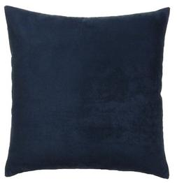 DreamHome 26 X 26 Inches Navy Color Faux Suede Decorative Eu