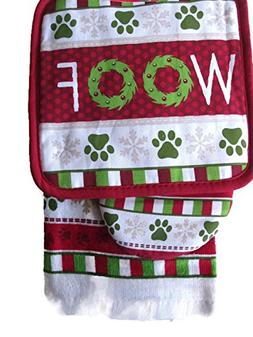 For the Love of Dogs Christmas Themed Kitchen Linen Gift Set