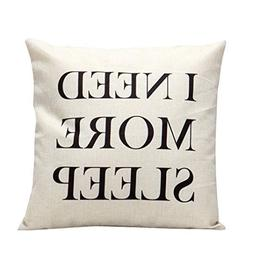 Gotd Throw Pillow Case Cover Solid Color Sleeping Pillow Wor