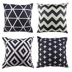 HOSL P61 4-Pack Sofa Home Decor Design Throw Pillow Case Cus