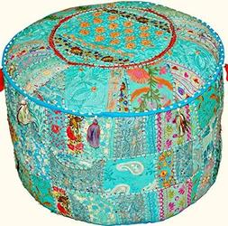 Indian Traditional Home Decorative Ottoman Handmade Pouf,Ind