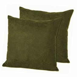 MoonRest - Pack of 2- Faux Suede Decorative Throw Pillow Cas